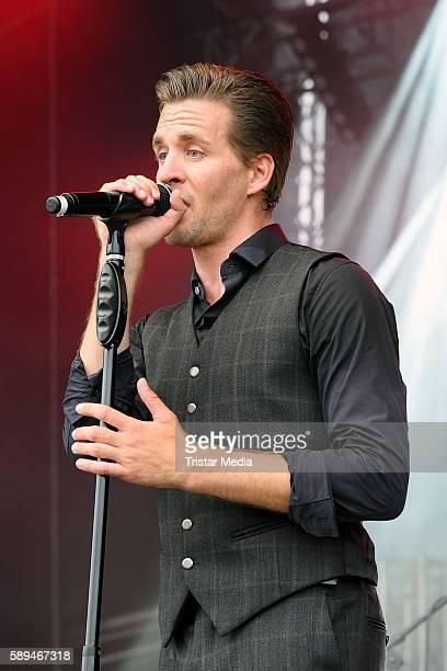 German singer Alexander Klaws performs at the SchlagerOlymp on August 13 2016 in Berlin Germany