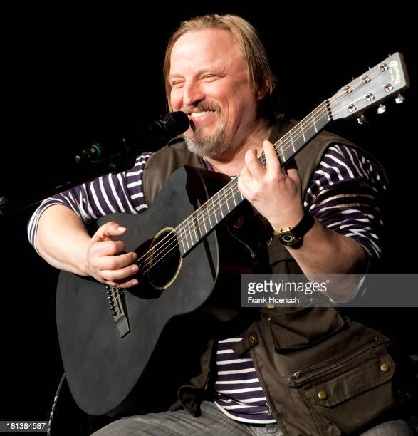 German singer and actor Axel Prahl performs live during a concert at the Volksbuehne on February 10 2013 in Berlin Germany