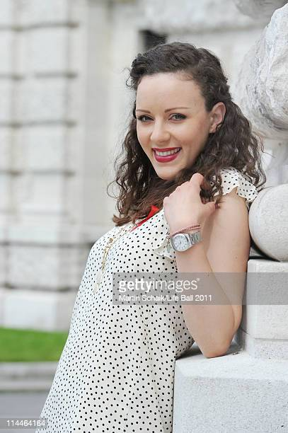 German singer and actor Jasmin Wagner poses beside a sightseeing tour prior to Life Ball on May 20 2011 in Vienna Austria