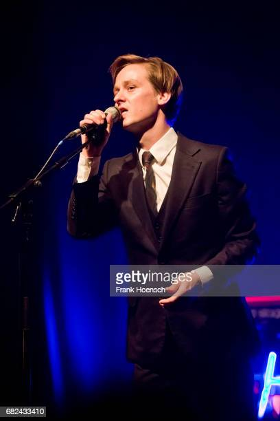 German singer and actor Tom Schilling performs live on stage during a concert at the Columbia Theater on May 12 2017 in Berlin Germany