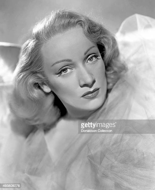 German singer and actress Marlene Dietrich poses for a portrait for the film 'A Foreign Affair' directed by Billy Wilder in1948 in Los Angeles...