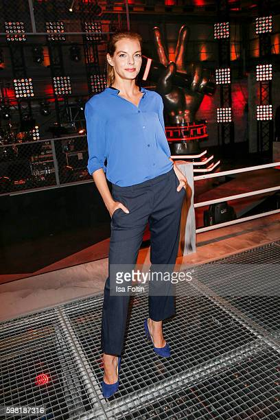 German singer and actress Yvonne Catterfeld attends the photocall for the six season of 'The Voice of Germany' on August 31 2016 in Berlin Germany