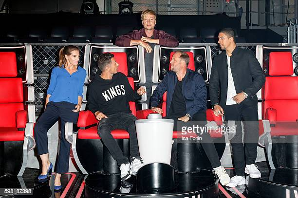 German singer and actress Yvonne Catterfeld Michi Beck and Michael Bernd Schmidt alias Smudo german singers and members of the band Die Fantastischen...