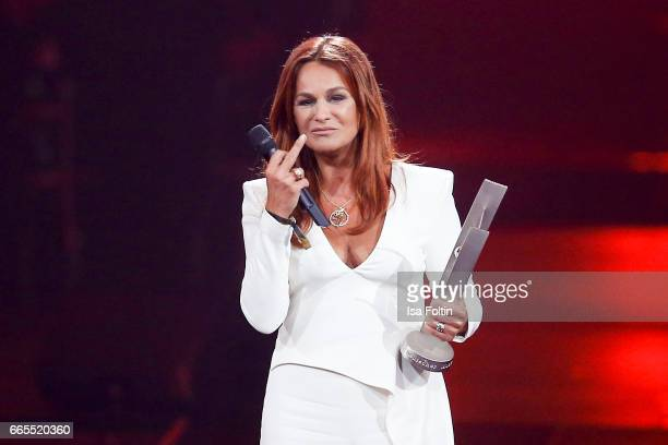 German singer and award winner Andrea Berg during the Echo award show on April 6 2017 in Berlin Germany