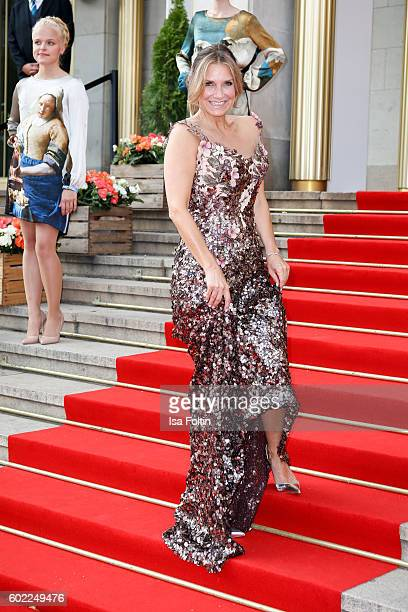 German singer and moderator Kim Fisher attends the Leipzig Opera Ball 2016 on September 10 2016 in Leipzig Germany