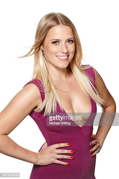 German singer and TV host Vanessa Meisinger poses during a photo session on October 10 2014 in Munich Germany