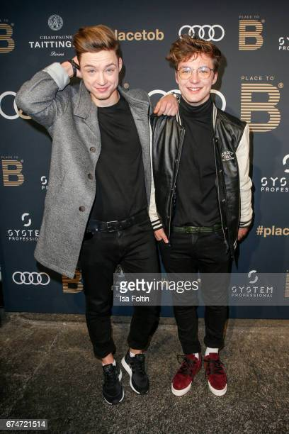 German singer and youtuber Heiko Lochmann and Roman Lochmann alias 'Die Lochis' attend the Place To Be Party after the Lola German Film Award on...
