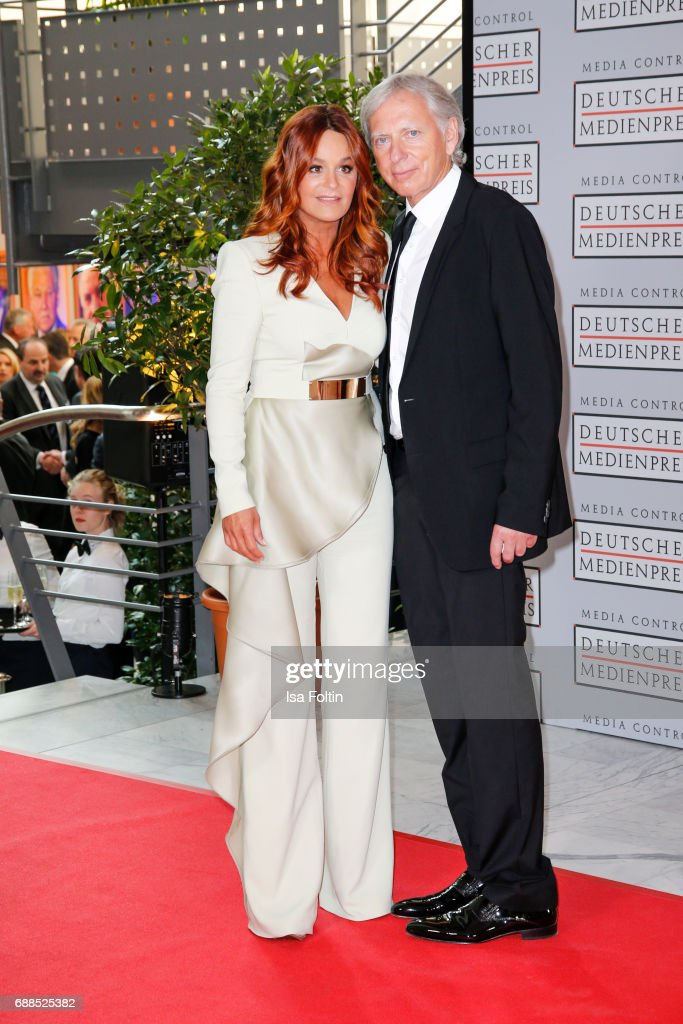 German singer Andrea Berg and her husband Ulrich Ferber during the German Media Award 2016 at Kongresshaus on May 25, 2017 in Baden-Baden, Germany. The German Media Award (Deutscher Medienpreis) has been presented annually since 1992 to honor personalities from public life.