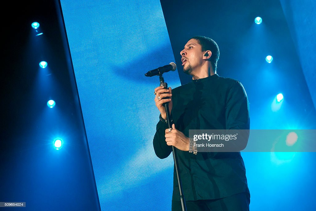 German singer <a gi-track='captionPersonalityLinkClicked' href=/galleries/search?phrase=Andreas+Bourani&family=editorial&specificpeople=7886576 ng-click='$event.stopPropagation()'>Andreas Bourani</a> performs live during a concert at the Max-Schmeling-Halle on February 11, 2016 in Berlin, Germany.