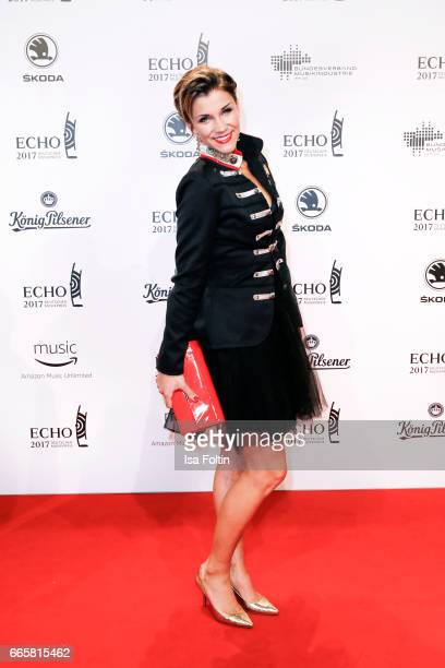 German singer AnnaMaria Zimmermann during the Echo award red carpet on April 6 2017 in Berlin Germany