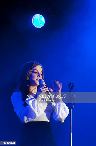 German singer Annett Louisan performs live during a concert at the Tipi on January 30 2013 in Berlin Germany