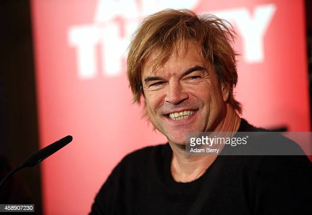 German Singer Campino attends a press conference about the German version of a 30th anniversary edition of the 80s poverty benefit project Band Aid...