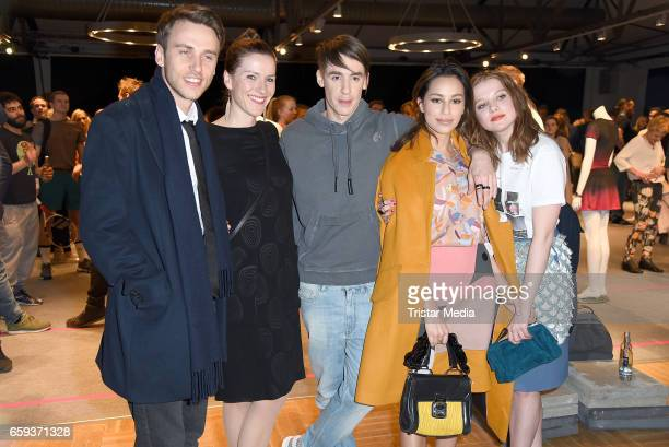 German singer Clueso german designer Kilian Kerner german actress Gizem Emre and german actress Jella Haase attend the BIDI BADU by Kilian Kerner...