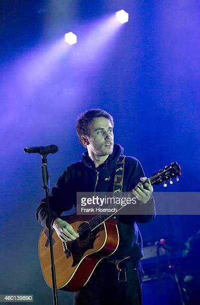 German singer Clueso performs live during a concert at the MaxSchmelingHalle on December 5 2014 in Berlin Germany