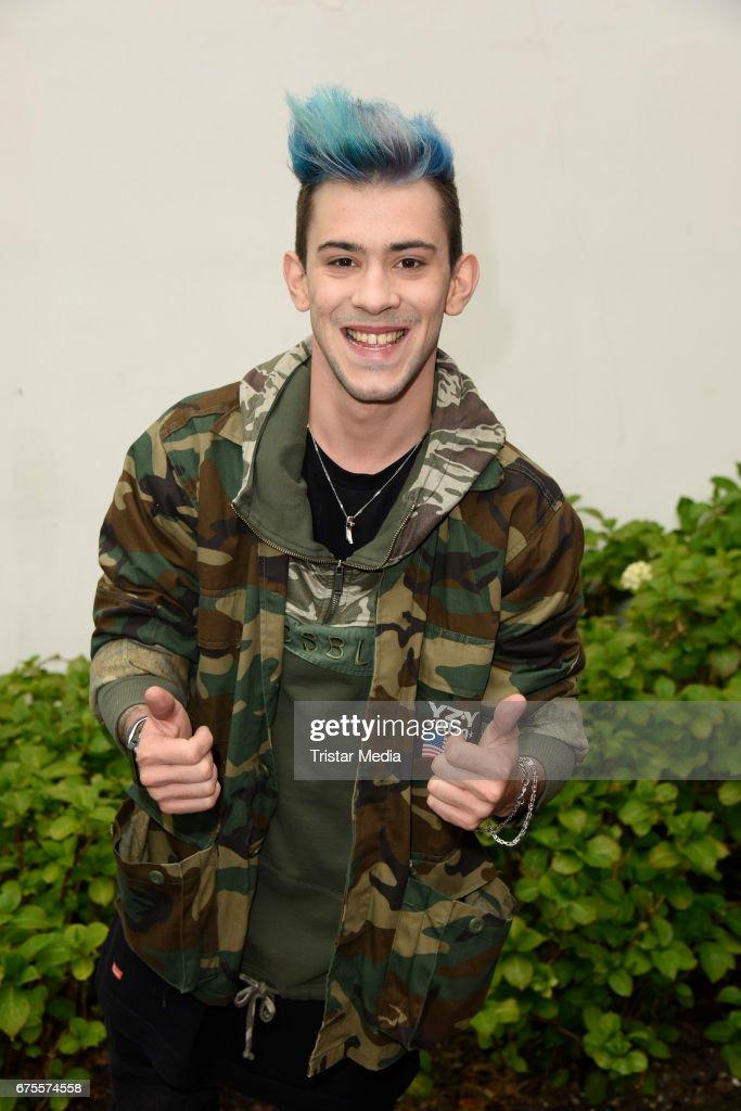 German singer Daniele Negroni attends the 'BILD Renntag' at Trabrennbahn on May 1, 2017 in Gelsenkirchen, Germany.