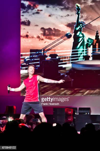 German singer Florian Silbereisen performs live during the show 'Das grosse Schlagerfest' at the MercedesBenz Arena on April 20 2017 in Berlin Germany