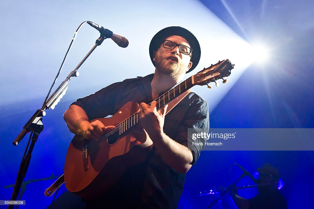 German singer Gregor Meyle performs live during a concert at the Huxleys on May 26, 2016 in Berlin, Germany.