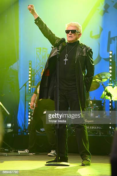 German singer Heino performs at the SchlagerOlymp on August 13 2016 in Berlin Germany