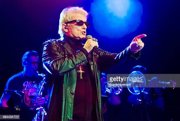 German singer Heino performs live during a concert at the Huxleys on October 23 2015 in Berlin Germany