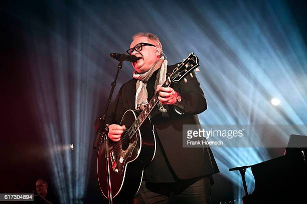 German singer Heinz Rudolf Kunze performs live during a concert at the Columbiahalle on October 22 2016 in Berlin Germany