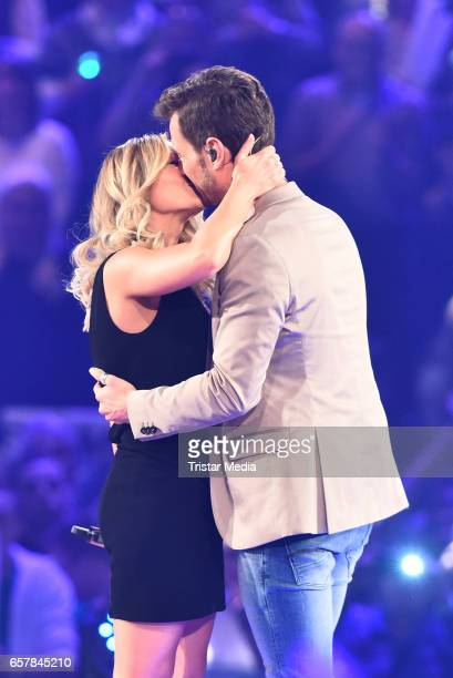 German singer Helene Fischer and her boyfriend german moderator Florian Silbereisen during the show 'Schlagercountdown Das grosse Premierenfest' at...