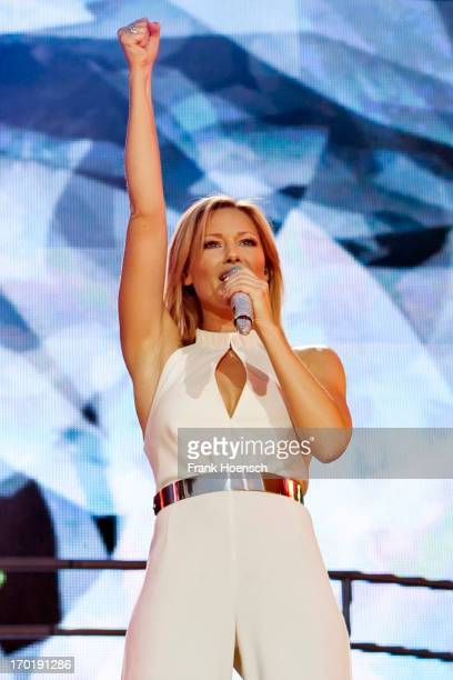 German singer Helene Fischer performs live during a concert at the Waldbuehne on June 8 2013 in Berlin Germany