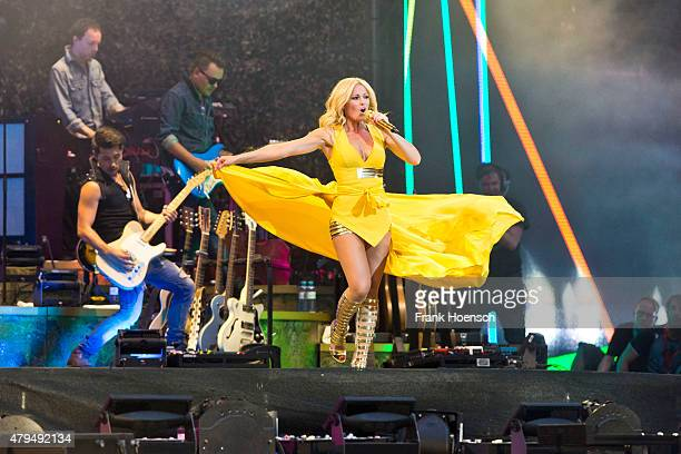 German singer Helene Fischer performs live during a concert at the Olympiastadion on July 4 2015 in Berlin Germany