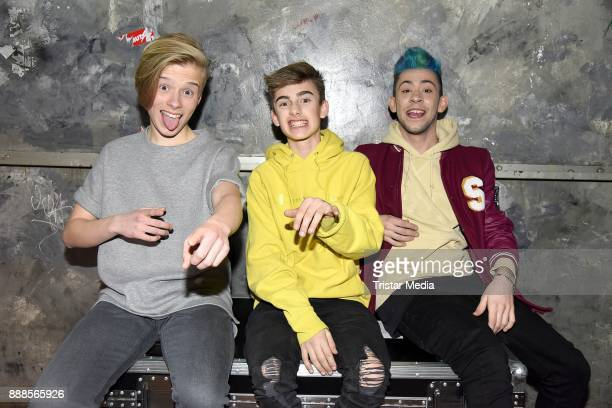German singer Iggi Kelly US singer Johnny Orlando and german singer Daniele Negroni during a exclusive photo session at Luxor Club on December 8 2017...