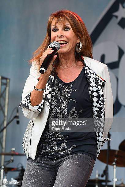 German singer Ireen Sheer performs at the SchlagerOlymp on August 13 2016 in Berlin Germany