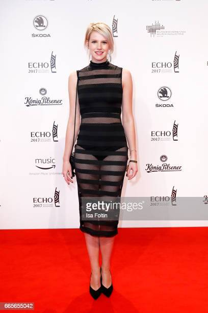 German singer Isabella Levina Lueen during the Echo award red carpet on April 6 2017 in Berlin Germany