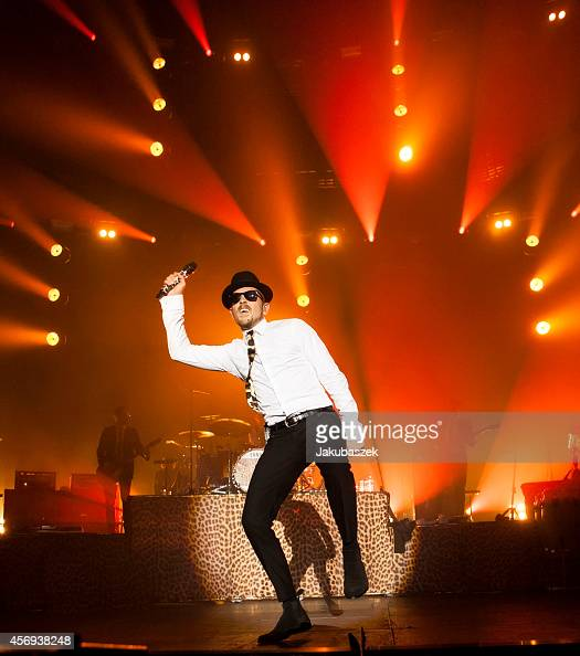 German singer Jan Delay performs live during a concert at Max Schmeling Halle on October 9 2014 in Berlin Germany