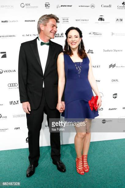 German singer Jasmin Wagner and her husband Frank Sippel attend the GreenTec Awards at ewerk on May 12 2017 in Berlin Germany