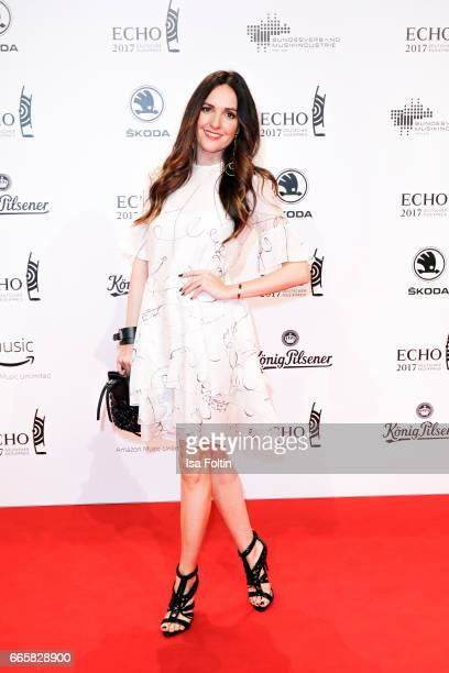 German singer Johanna Klum during the Echo award red carpet on April 6 2017 in Berlin Germany