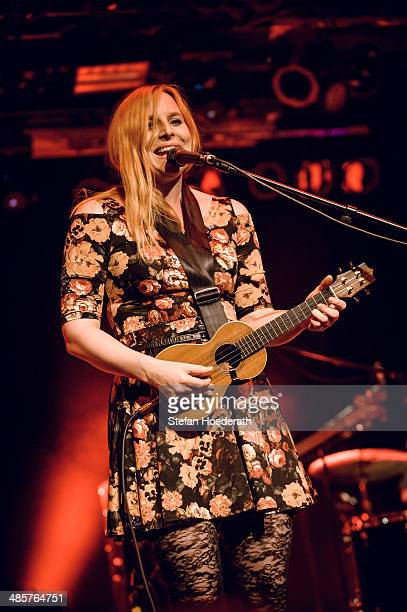 German singer Judith Holofernes performs live during a concert at Astra on April 20 2014 in Berlin Germany