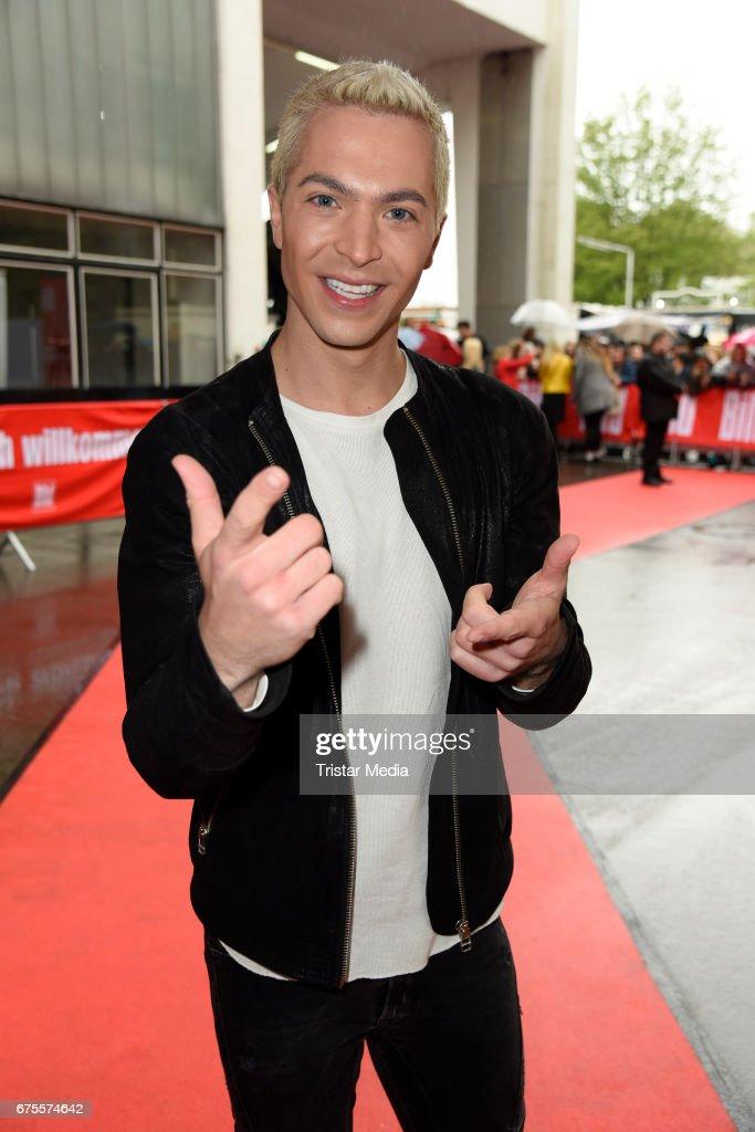German singer Julian David attends the 'BILD Renntag' at Trabrennbahn on May 1, 2017 in Gelsenkirchen, Germany.