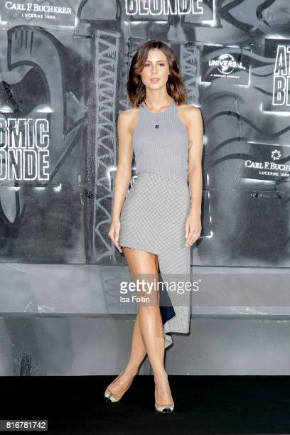 German singer Lena MeyerLandrut attends the 'Atomic Blonde' World Premiere at Stage Theater on July 17 2017 in Berlin Germany