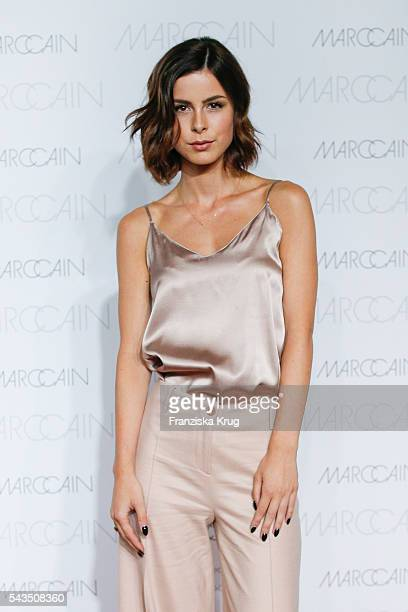 German singer Lena MeyerLandrut attends the Marc Cain fashion show spring/summer 2017 at CITY CUBE Panorama Bar on June 28 2016 in Berlin Germany