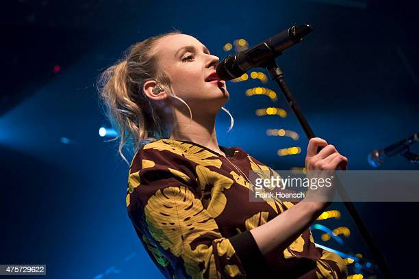 German singer Leslie Clio performs live during a concert at the Postbahnhof on May 28 2015 in Berlin Germany