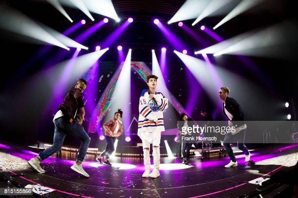 German singer Lukas Rieger performs live on stage during the Essence Birthday Party at the Tempodrom on July 15 2016 in Berlin Germany