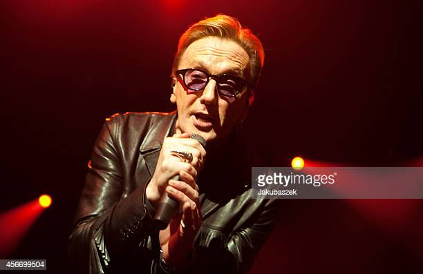 German singer Marius Mueller Westernhagen performs live during a concert together with rapper Sido at the Black Box Music Hall on October 5 2014 in...