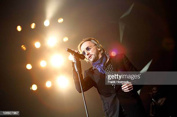 German singer Marius MuellerWesternhagen performs live during a concert at the O2 World on October 21 2010 in Berlin Germany