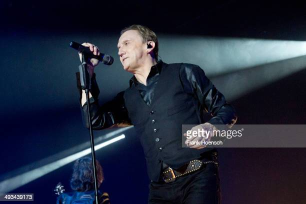 German singer Marius MuellerWesternhagen performs live during a concert at the Columbiahalle on May 23 2014 in Berlin Germany