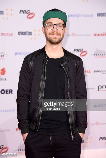 German singer Mark Forster attends the LEA PRG Live Entertainment Award 2017 at Festhalle Frankfurt on April 3 2017 in Frankfurt am Main Germany