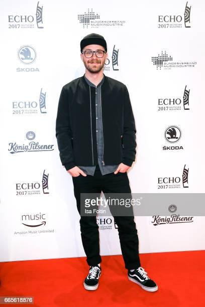 German singer Mark Forster during the Echo award red carpet on April 6 2017 in Berlin Germany