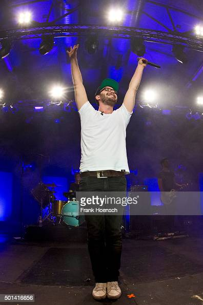 German singer Mark Forster performs live during a concert at the Columbiahalle on December 11 2015 in Berlin Germany