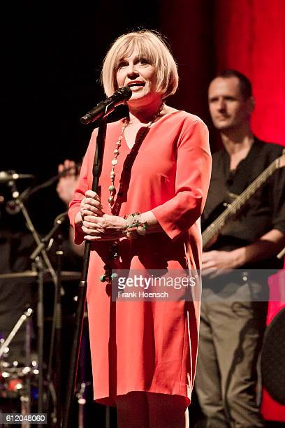 German singer Mary Roos performs live during the show 'Nutten Koks und frische Erdbeeren' at the Admiralspalast on September 30 2016 in Berlin Germany