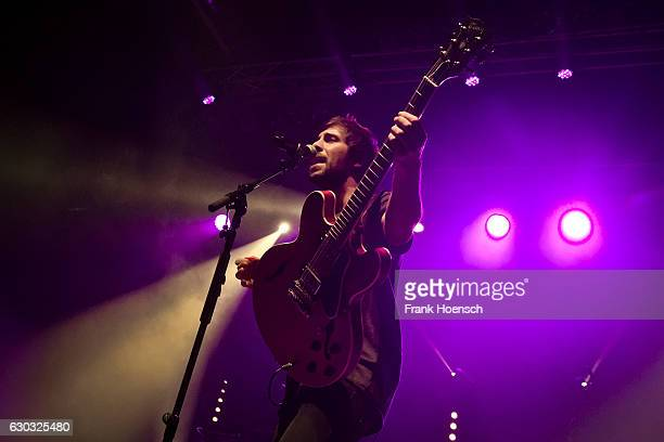 German singer Max Giesinger performs live during a concert at the Huxleys on December 20 2016 in Berlin Germany