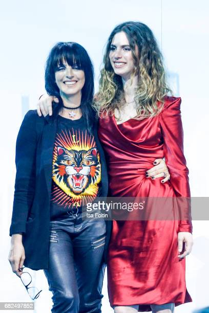 German singer Nena and her daughter Larissa Freitag during the GreenTec Awards Show at ewerk on May 12 2017 in Berlin Germany