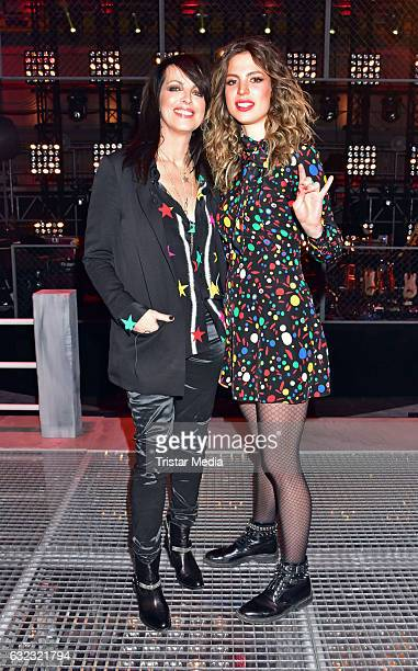 German singer Nena and her daughter Larissa Kerner during the 'The Voice Kids' photo call on January 21 2017 in Berlin Germany