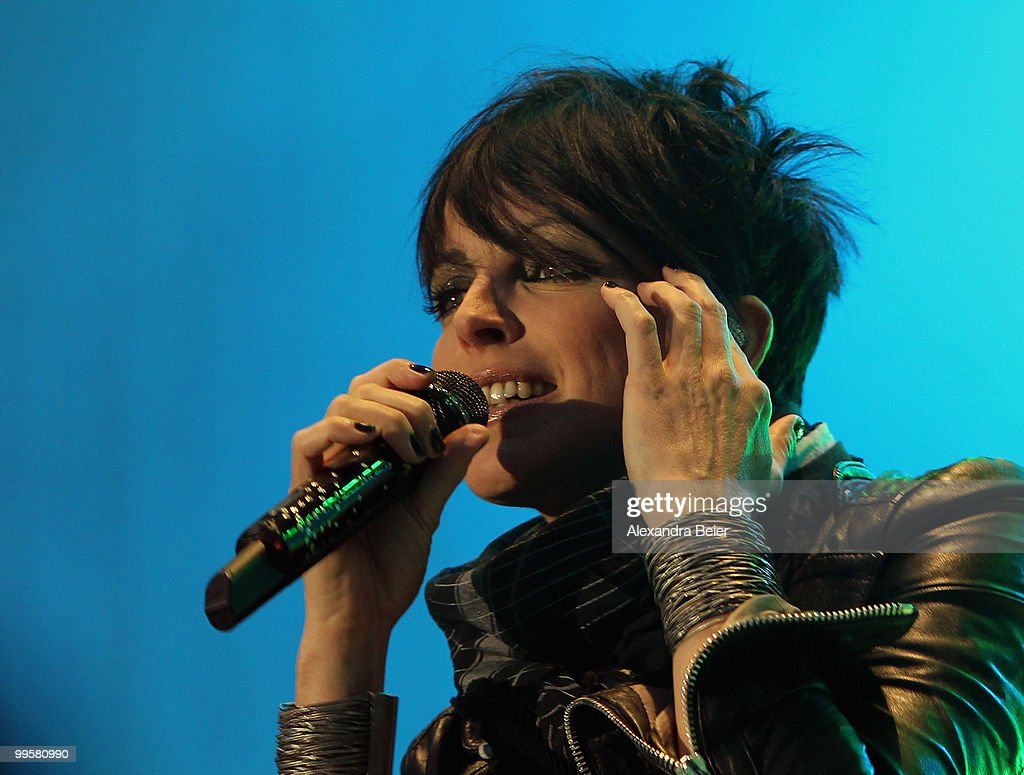 German singer Nena performs during a concert at the fourth day of the 2nd ecumenical Kirchentag on May 15, 2010 in Munich, Germany.
